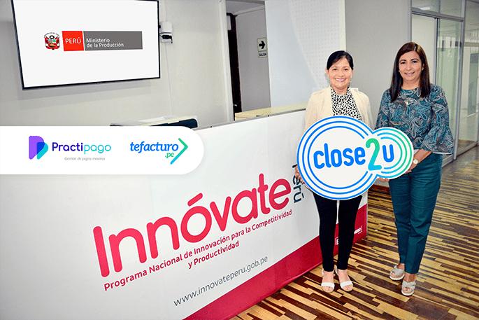Close2U: Practipago, ganadora de Innovación empresarial en el 2020 por el Ministerio de la Producción e Innóvate.